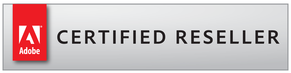 immagine che certifica che siamo adobe certified reseller